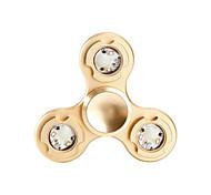 Toupies Fidget Spinner à main Jouets Tri-Spinner Métal Aluminium EDCEclairage LED Soulagement de stress et l'anxiété Jouets de bureau