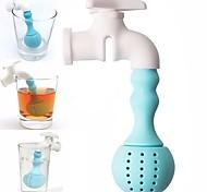 Недорогие -силиконовый смеситель для чайного наполнителя сетчатый травяной специи фильтр диффузор чай инструменты