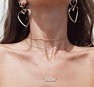 Pendientes colgantes Moda Las formas múltiples de desgaste Euramerican Legierung Forma de Corazón Dorado Plata Oro Rosa Joyas ParaFiesta
