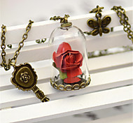 Sweet Lolita Necklace Vintage Inspired Red Lolita Accessories Necklace Solid For Polyester Metal