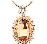 Жен. Ожерелья с подвесками Кристалл Мода Euramerican Простой стиль Белый Черный Желтый Бижутерия Для Свадьба Для вечеринок День рождения