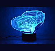 Недорогие -1 ед. 3D ночной свет USB Датчик / Диммируемая / Водонепроницаемый LED / Модерн