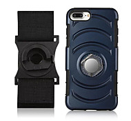 For Apple iPhone 7 Plus 7 Case Cover with Stand Ring Holder Armband Solid Color Hard PC 6s Plus 6 Plus 6 6s