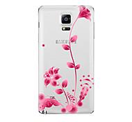 preiswerte -Hülle Für Samsung Galaxy Transparent Muster Rückseite Blume Weich TPU für Note 5 Note 4 Note 3 Note 2