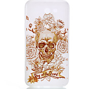 cheap -Case For Samsung Galaxy J7(2016) J5(2016) Glow in the Dark Frosted Translucent Pattern Back Cover Skull Soft TPU for J7 (2016) J5 (2016)