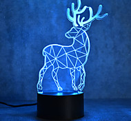 cheap -1pc 3D Nightlight Touch 7-Color with USB Port