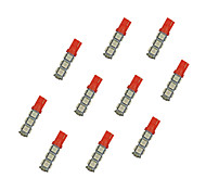 10Pcs T10 13*5050 SMD LED Car Light Bulb Red Light DC12V