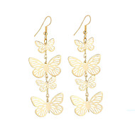 cheap -New Hot Fashion Vintage Charm Elegant Plated Gold/Silver Hollow Flying Butterfly Drop Earrings For Women Dangle Long Earrings Jewelry Bijouterie
