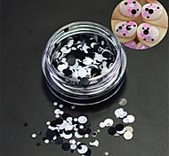 1bottle моды ногтей лазерный блеск круглый блестка ногтей искусство DIY красоты круглый ломтик украшения p17
