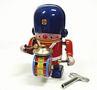 Игрушка с заводом Робот Игрушки Машина Робот Барабанная установка Металл 1 Куски Детские Подарок