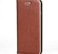 Недорогие -Для iphone 7 7 плюс держатель карточки крышки случая флип магнитный полный случай тела твердый цвет твердый кожа pu для iphone 6s 6 плюс