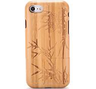 Для Чехлы панели С узором Рельефный Задняя крышка Кейс для Имитация дерева дерево Твердый Дерево для AppleiPhone 7 Plus iPhone 7 iPhone