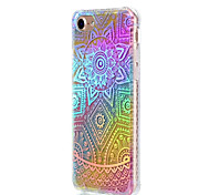 Недорогие -Для apple iphone 7 плюс 7 крышка корпуса ударопрочное покрытие просвечивающий рисунок задняя сторона обложка кружево печать цвет градиент