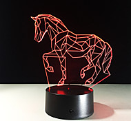 Running Horse Acrylic Led 3D Lamp Bedside Lamp Led Night Light Colorful Gradient Light Living Room Lights Kids Gift Toys