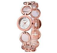 Женские Модные часы Японский Японский кварц / сплав Группа Повседневная Серебристый металл Розовое золото Серебряный Розовое золото
