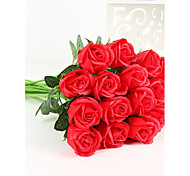 Недорогие -Искусственные Цветы 4.0 Простой стиль Розы Букеты на стол / Не включено
