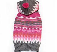 Собаки Свитера Одежда для собак Зима геометрический Мода На каждый день Пурпурный