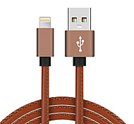 cheap -USB 2.0 Lightning USB Cable Adapter Braided High Speed Gold Plated Cable For Macbook iPad MacBook Air iPhone MacBook Pro 100 cm PU