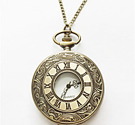 Men's Pocket Watch Automatic self-winding Alloy Band Silver Gold