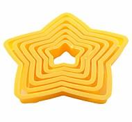 Set of 6 Nesting Star Fondant Cake Cookie Cutter Random Color