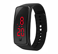 cheap -Womens Men Silicone Band Digitall LED Bracelet Wristwach Sports Running Waches