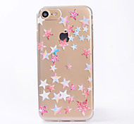 For Case Cover IMD Transparent Back Cover Case Geometric Pattern Stars Soft TPU for iPhone 7 Plus 7  6s Plus 6 SE 5S 5