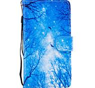 Недорогие -Для Чехлы панели Кошелек Бумажник для карт со стендом Флип С узором Магнитный Чехол Кейс для дерево Твердый Искусственная кожа для Huawei