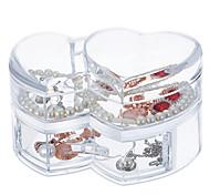 Недорогие -большой емкости любящий сердце макияж ювелирные изделия хранения косметический органайзер ящик для ящика