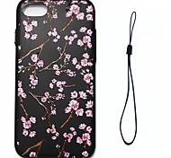 Недорогие -Для яблока iphone 7 7 плюс 6s 6 плюс se 5s 5 крышка корпуса персикового цветка модель впрыск облегчение обшивка кнопка толстый тпу