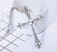 Homme Pendentif de collier Imitation de diamant Forme de Croix Croix Argent Bijoux Pour Quotidien Décontracté 1 pièce
