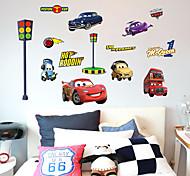 Недорогие -Мультипликация Мода Транспорт Наклейки Простые наклейки Декоративные наклейки на стены,Бумага материал Украшение дома Наклейка на стену