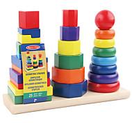 Costruzioni Gioco educativo Giocattoli Quadrato Circolare Cilindrico Torre Per bambini 1 Pezzi