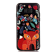 For Apple iPhone 7 7 Plus iPhone 6s 6 Plus Case Cover The Fox Pattern 3D Relief Plastic Back Shell TPU Frame Cases