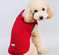 cheap -Dog Sweater Dog Clothes Cartoon Dark Blue Red Silk Fabric Cotton Costume For Pets Men's Women's Casual/Daily Fashion