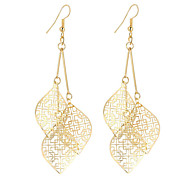 cheap -Women's Leaf Silver Plated Gold Plated Drop Earrings - Dangling Style Vintage Bohemian Elegant Fashion Simple Style Gold Silver Leaf