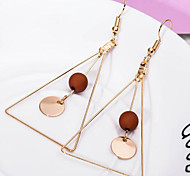 cheap -Women's Drop Earrings Acrylic Simple Style Alloy Triangle Jewelry White Black Coffee Daily Costume Jewelry