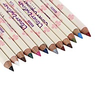 12Pcs Beauty Make Up Magic Water-Resistant Wood Handle 12 Color Waterproof 24 Hours Long Lasting Natural Hold Eyeliner
