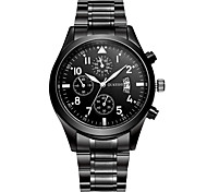 cheap -Men's Quartz Wrist Watch Casual Watch Stainless Steel Band Casual Dress Watch Fashion Black