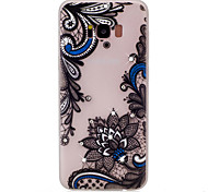 For Samsung Galaxy S8 Plus S8 Flower Pattern TPU Material Rhinestone Glow in the Dark Soft Phone Case for S7 Edge S7
