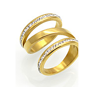 Men's Women's Band Rings AAA Cubic Zirconia Circular Unique Design Geometric Circle Double-layer Fashion Vintage Punk Personalized