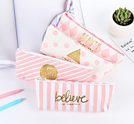 cheap -Pink Stripe Stationery Bag 1 PCS