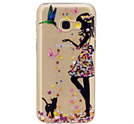 cheap -Case For Samsung Galaxy A5(2017) A3(2017) Pattern Back Cover Cat Sexy Lady Soft TPU for A3(2017) A5(2017) A5(2016) A3(2016)