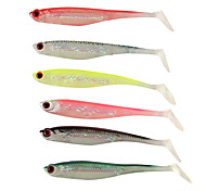 "5 pcs Soft Bait Fishing Lures Soft Bait phantom g/Ounce,105 mm/4-1/4"" inch,SiliconSea Fishing Spinning Jigging Fishing Freshwater Fishing"
