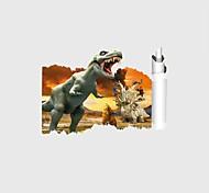 Недорогие -Животные Мультипликация 3D Наклейки Простые наклейки 3D наклейки Декоративные наклейки на стены Свадебные наклейки,Бумага Винил материал