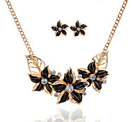 Women's Jewelry Set Floral Flower Style Basic Flowers Party Special Occasion Casual Alloy Flower 1 Necklace 1 Pair of Earrings
