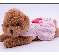 Собака Платья Одежда для собак Очаровательный На каждый день Мода Цветы Лиловый Синий Розовый