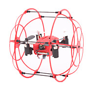 RC Drone M66 4 Channel 6 Axis 2.4G - RC Quadcopter LED Lighting 360°Rolling Hover RC Quadcopter Remote Controller/Transmmitter 1 Charging