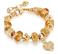 cheap -Women's Strand Bracelet Luxury Friendship Movie Jewelry DIY Fashion Stretch Gold Plated Alloy Round Circle Geometric Heart Jewelry