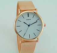 Жен. Модные часы Кварцевый сплав Группа На каждый день Серебристый металл Золотистый Розовое золото