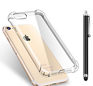 For iPhone X iPhone 8 iPhone 8 Plus Case Cover Shockproof Transparent Back Cover Case Solid Color Soft TPU for Apple iPhone X iPhone 8